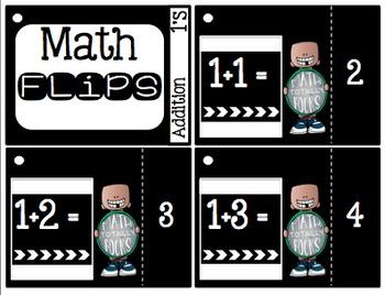 Math Flips Addition 1-12 (Math Fluency Practice)