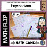 Algebraic Expressions Math Flips Game {free}