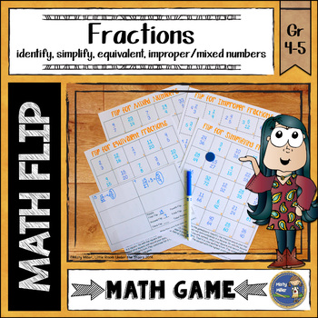 Fractions Math Flips Game