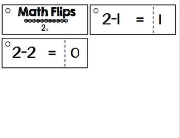 Math Flips Subtraction (Math Fluency Practice)