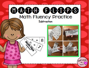 Math Flips Subtraction (Math Fluency Practice)