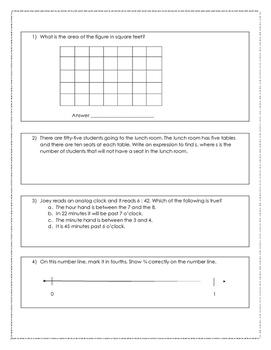 FSA 3rd Grade Test Prep