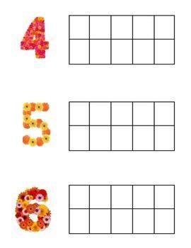 Math- Flower 10 Frames 1-20