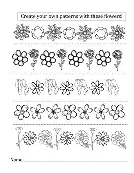 Math Flower Pattern Worksheet