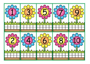 Flower Seeds Numbers to 10 Write & Wipe