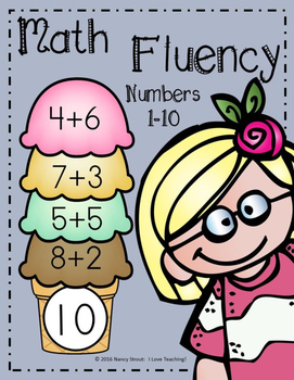 Math Addition Fluency Sums 1-10