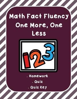 Math Fluency 1 More, 1 Less