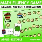 Math Fluency:  Apple Days Editable