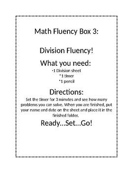 Math Fluency Boxes