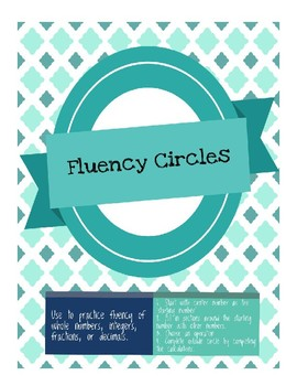 Math Fluency Circles - Blank