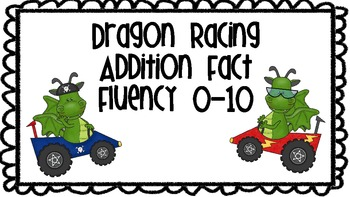 Math Fluency - Dragon Racing Addition Fact Fluency 0-10