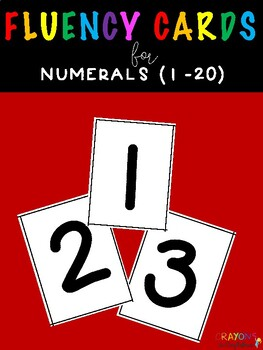 Math Fluency Flash Cards for Numerals 1 - 20