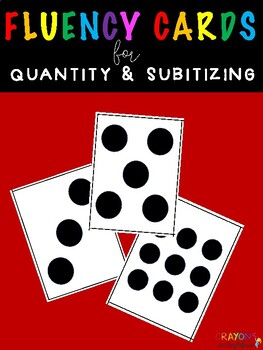 Math Fluency Flash Cards for Quantity & Subitizing