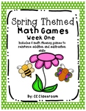 Math Fluency Games Week One