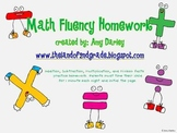 Math Fluency Homework