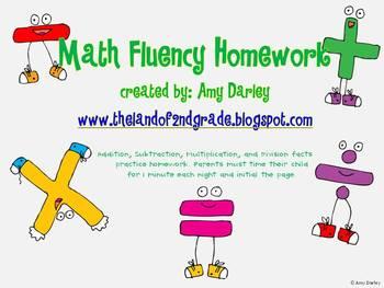 Math Fluency Homework