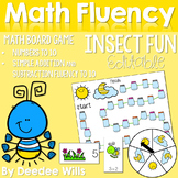 Math Fluency:  Insect Fun! Editable