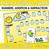 Math Fluency:  Insect Fun! Editable