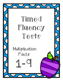 Math Fluency Multiplication Facts 1-9 5.NBT.B.5