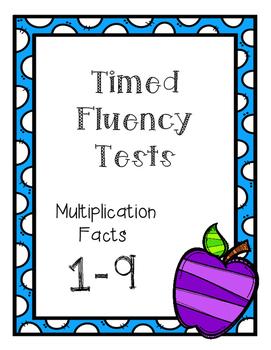 Math Fluency Multiplication Facts 1-9 5.NBT.B.5