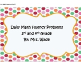 Math Fluency Pages