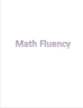 Math Fluency Practice - All Four Operations