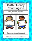 Math Fluency Practice (Counting On Addition Strategy) Numbers to 10