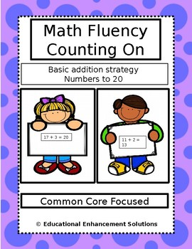 Math Fluency Practice (Counting On Addition Strategy) Numbers to 20
