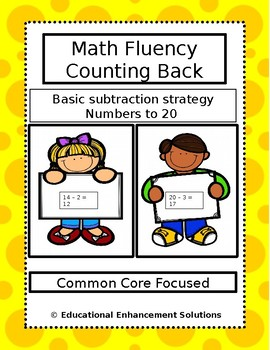 Math Fluency Practice (Counting On Subtraction Strategy) Numbers to 20