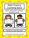 Math Fluency Practice (Counting Back Subtraction Strategy) Numbers to 20