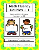 Math Fluency Practice (Doubles + 1 Addition Strategy) Numb