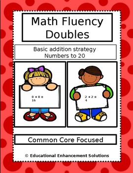 Math Fluency Practice (Doubles Addition Strategy) Numbers to 20