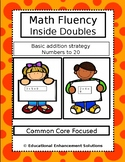 Math Fluency Practice (Inside Doubles) Numbers to 20