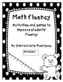 Math Fluency Spanish