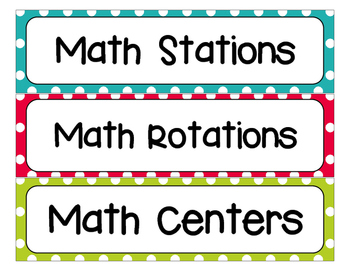Math Fluency Stations Bulletin Board Display