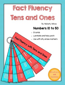 Math Fact Fluency Strips: Tens and Ones Place Value