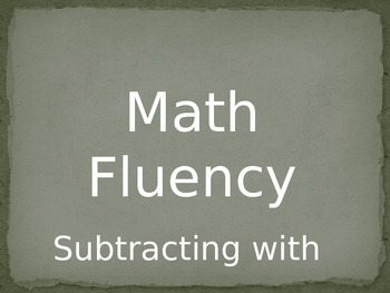 Math Fluency Subtracting with 10, 9, 8, & 7 PowerPoint Slides