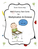 Math Fluency Task Cards for Multiplication and Division