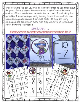 Math Fluency (addition and subtraction to 12)