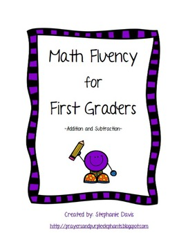 Math Fluency for First Graders