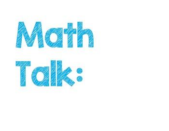 Math Focus Board Headings!