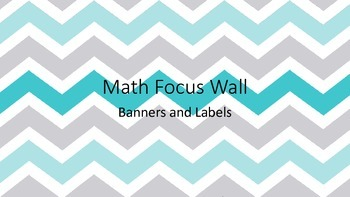 Math in Focus Wall Banner and Labels: Grey and Blue Chevron