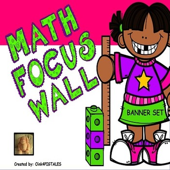 MATH POSTERS in  PURPLE GREEN and WHITE THEME