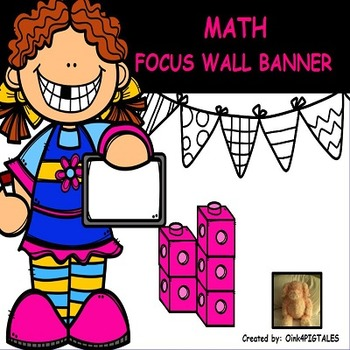 MATH BULLETIN BOARD PINK and BLACK COLOR THEME