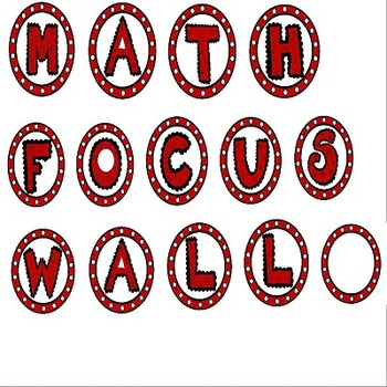 Math Bulletin Board Banner in Red and Black Theme