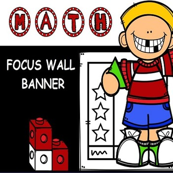 MATH FOCUS WALL POSTERS in RED BLACK WHITE COLOR THEME