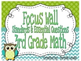 Math Focus Wall Common Core Essential Questions & Standards (Large)