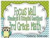 Math Focus Wall Common Core Standards and Essential Questi