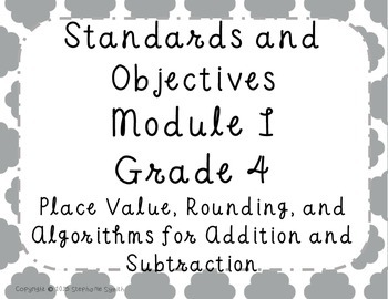 Math Focus Wall Engage NY Module 1 Objectives Standards Grade 4 Common Core