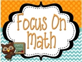 Math Focus Wall Essential Questions 3rd Grade Common Core
